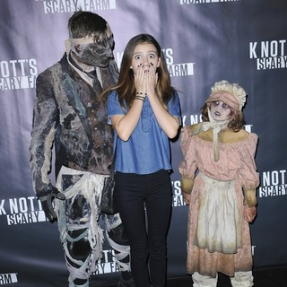 G. Hannelius in Knotts Scary Farm Black Carpet