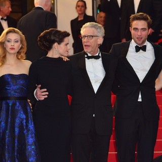 Martin Katz, Sarah Gadon, Emily Hampshire, David Cronenberg, Robert Pattinson, Juliette Binoche, Don DeLillo in Cosmopolis Premiere - During The 65th Annual Cannes Film Festival