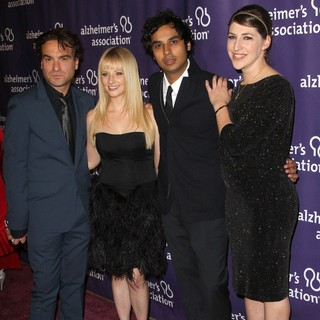 Johnny Galecki, Melissa Rauch, Kunal Nayyar, Mayim Bialik in The 20th Annual A Night at Sardi's Fundraiser and Awards Dinner - Arrivals