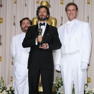 Zach Galifianakis, Bret McKenzie, Will Ferrell in 84th Annual Academy Awards - Press Room