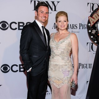Brian Gallagher, Megan Hilty in The 67th Annual Tony Awards - Arrivals