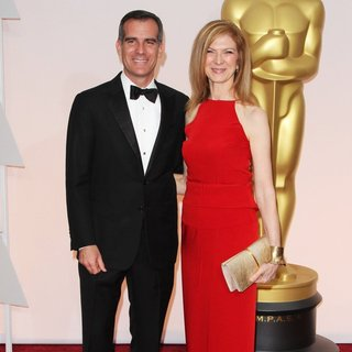 Eric Garcetti, Dawn Hudson in The 87th Annual Oscars - Red Carpet Arrivals