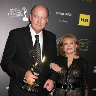 Bill Geddie, Barbara Walters in 39th Daytime Emmy Awards - Press Room