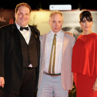 Jordan Gelber, Todd Solondz, Selma Blair in The 68th Venice Film Festival - Day 6 - Dark Horse - Premiere - Red Carpet
