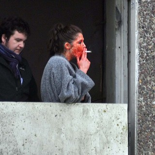 Gemma Arterton in Gemma Arterton and Saoirse Ronan During A Break from Filming Byzantium