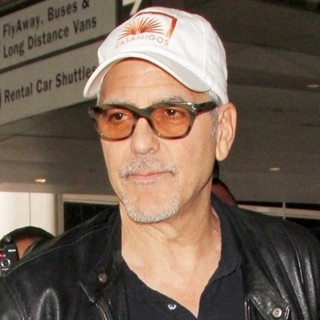 George Clooney at Los Angeles International Airport