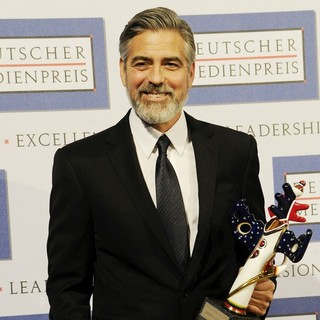 George Clooney in George Clooney Is Awarded with The Deutscher Medienpreis Award