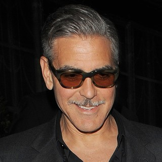 George Clooney Leaving His London Hotel