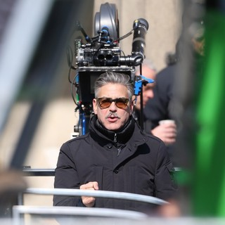 George Clooney in On The Set of Movie The Monuments Men