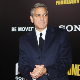 George Clooney - New York Premiere of The Monuments Men - Inside Arrivals
