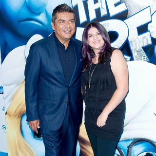 George Lopez, Mayan Lopez in The Smurfs World Premiere - Arrivals