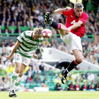 Gerard Butler in The John Kennedy Testimonial Match Between Celtic and Manchester United
