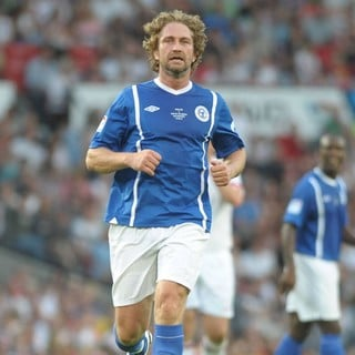 Gerard Butler in Soccer Aid 2012 in Support of UNICEF UK