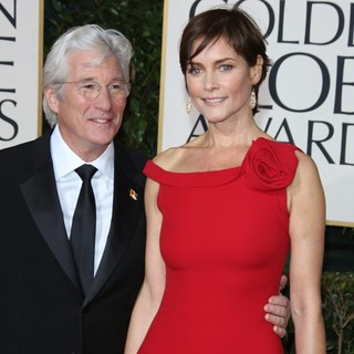 Richard Gere, Carey Lowell in 70th Annual Golden Globe Awards - Arrivals