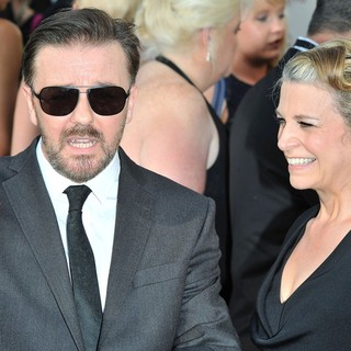 Ricky Gervais, Jane Fallon in The 2012 Arqiva British Academy Television Awards - Arrivals
