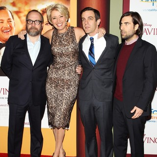 Paul Giamatti, Emma Thompson, B.J. Novak, Jason Schwartzman in Saving Mr. Banks Los Angeles Premiere