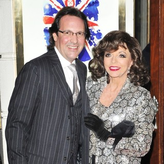Percy Gibson, Joan Collins in VIVA Forever Spice Girls The Musical - Arrivals