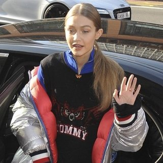Gigi Hadid-Gigi Hadid at The Tommy Hilfiger Store