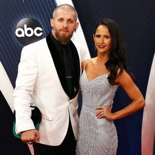 Brantley Gilbert, Amber Cochran in 52nd CMA Awards - Arrivals