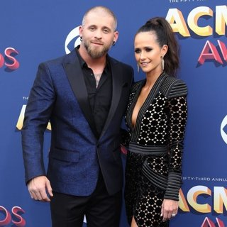 Brantley Gilbert, Amber Cochran in 53rd Academy of Country Music Awards - Arrivals