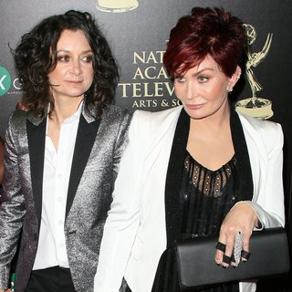 Sara Gilbert, Sharon Osbourne in The 41st Annual Daytime Emmy Awards - Arrivals