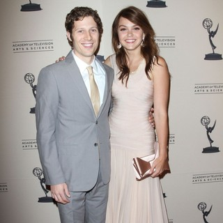 Zach Gilford, Aimee Teegarden in 63rd Primetime Emmy Writers Nominee Reception