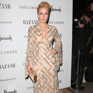Gillian Anderson in Harper's Bazaar Women of The Year 2012 - Arrivals - gillian-anderson-bazaar-women-of-the-year-2012-01
