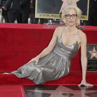 Hollywood Walk of Fame Ceremony for Gillian Anderson