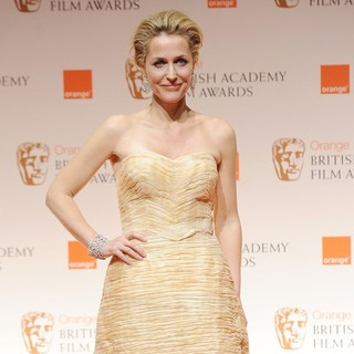 Gillian Anderson in Orange British Academy Film Awards 2012 - Press Room