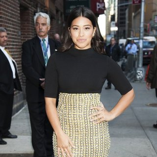 Gina Rodriguez at The Late Show with Stephen Colbert