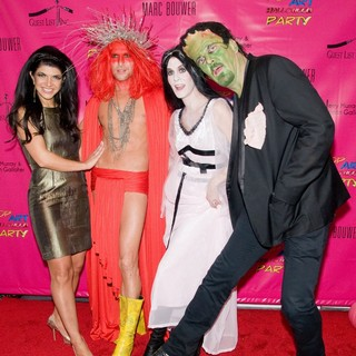 Teresa Giudice, Marc Bouwer, Alex McCord, Simon van Kempen in Pop Art Halloween Presented by Morgan Fairchild and Marc Bouwer