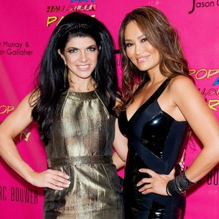 Teresa Giudice, Tia Carrere in Pop Art Halloween Presented by Morgan Fairchild and Marc Bouwer