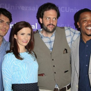David Giuntoli, Bitsie Tulloch, Silas Weir Mitchell, Russell Hornsby in The NBC Universal Summer Press Day