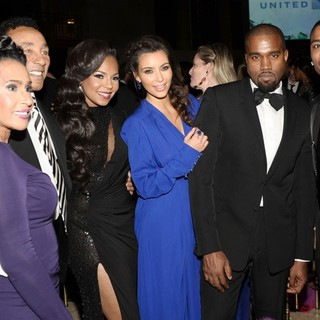 Frances Gladney, Smokey Robinson, Ashanti, Kim Kardashian, Kanye West, Nelly in The Angel Ball 2012