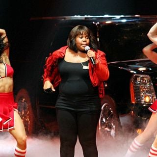 Amber Riley, Heather Morris in 'Glee Live' on Tour