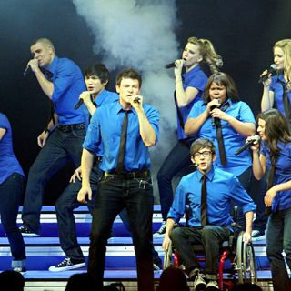 Lea Michele, Jenna Ushkowitz, Mark Salling, Harry Shum Jr., Cory Monteith, Heather Morris, Amber Riley, Kevin McHale, Dianna Agron, Naya Rivera in 'Glee Live' on Tour