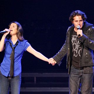 Lea Michele, Jonathan Groff in 'Glee Live' on Tour