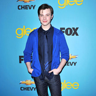 Chris Colfer in 'Glee' Spring Premiere Episode Outdoor Screening