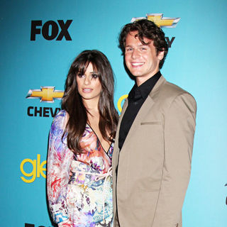 Lea Michele, Jonathan Groff in 'Glee' Spring Premiere Episode Outdoor Screening