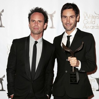 Walton Goggins, Malik Bendjelloul in 2013 Writers Guild Awards - Press Room