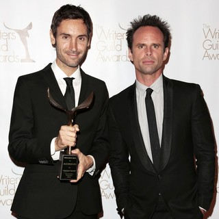 Malik Bendjelloul, Walton Goggins in 2013 Writers Guild Awards - Press Room
