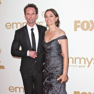 Walton Goggins, Nadia Conners in The 63rd Primetime Emmy Awards - Arrivals