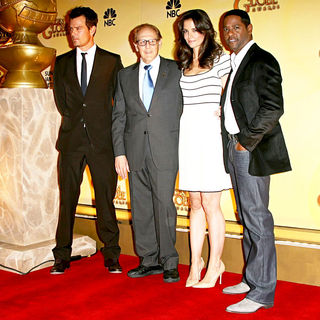 Josh Duhamel, Philip Berk, Katie Holmes, Blair Underwood in 68th Annual Golden Globe Nomination Announcement
