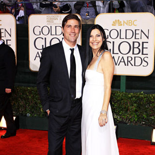Matthew Fox, Margherita Ronchi in 67th Golden Globe Awards - Arrivals