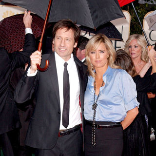 David Duchovny, Tea Leoni in 67th Golden Globe Awards - Arrivals
