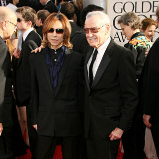Yoshiki, Stan Lee in 68th Annual Golden Globe Awards - Arrivals