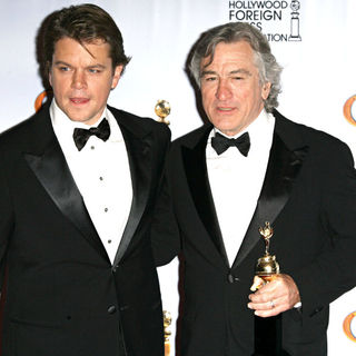Matt Damon, Robert De Niro in 68th Annual Golden Globe Awards - Press Room