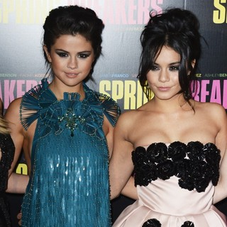 Selena Gomez, Vanessa Hudgens in Paris Premiere of Spring Breakers - Red Carpet