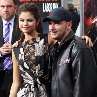 Selena Gomez, Courtney Solomon in Getaway Los Angeles Premiere