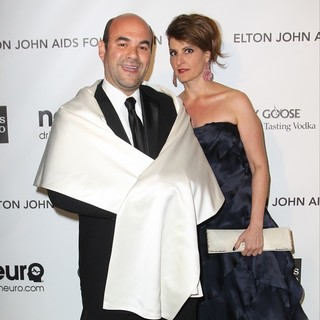 Ian Gomez, Nia Vardalos in 21st Annual Elton John AIDS Foundation's Oscar Viewing Party